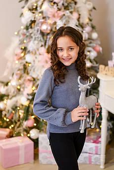 Свитер детский   Татьяна Филатова модель 217 вязанный серый