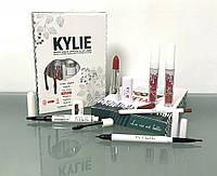 Набор косметики Kylie 8 в 1,  блеск, помада, карандаш, лайнер, подводка , фото 1