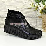 Женские замшевые демисезонные полуботинки на шнуровке, фото 2