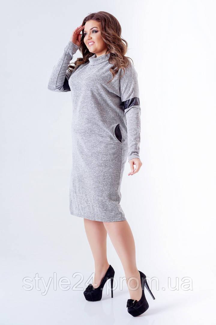 Р-ри 50 ЖІноче батальне плаття з ангори та шкіри на рукавха та спині .Р-ри  50 f3bcbb6eeca95