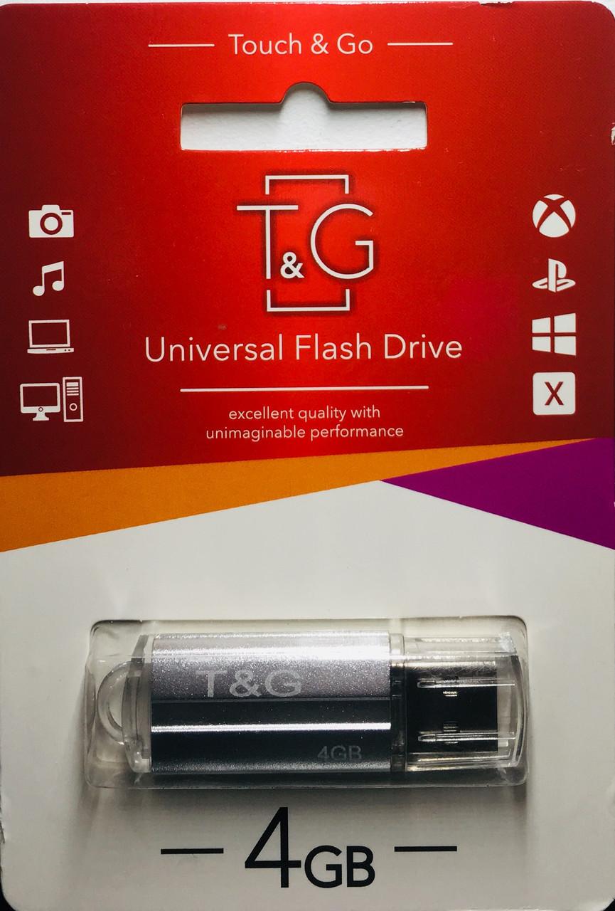 USB флеш-накопитель T&G 4 Gb silver