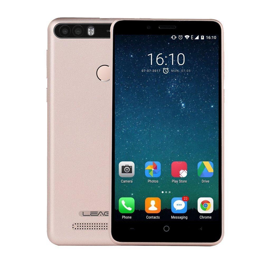 "Смартфон Leagoo KIICAA Power 2/16Gb Gold, 8+5/5Мп, 4 ядра, 5"" IPS, 2 SIM, 4000мА"
