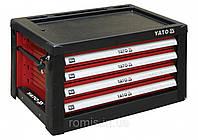 Шафа для майстерні з 4 шуфлядами YATO до столу YT-08920 690 х 465 х 400 мм