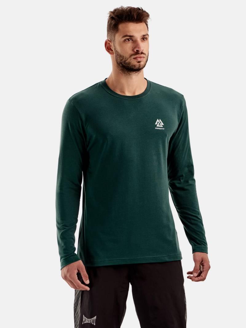 Спортивная футболка с длинным рукавом Peresvit Dynamic Cotton Long Sleeve T-shirt Atlantic Deep
