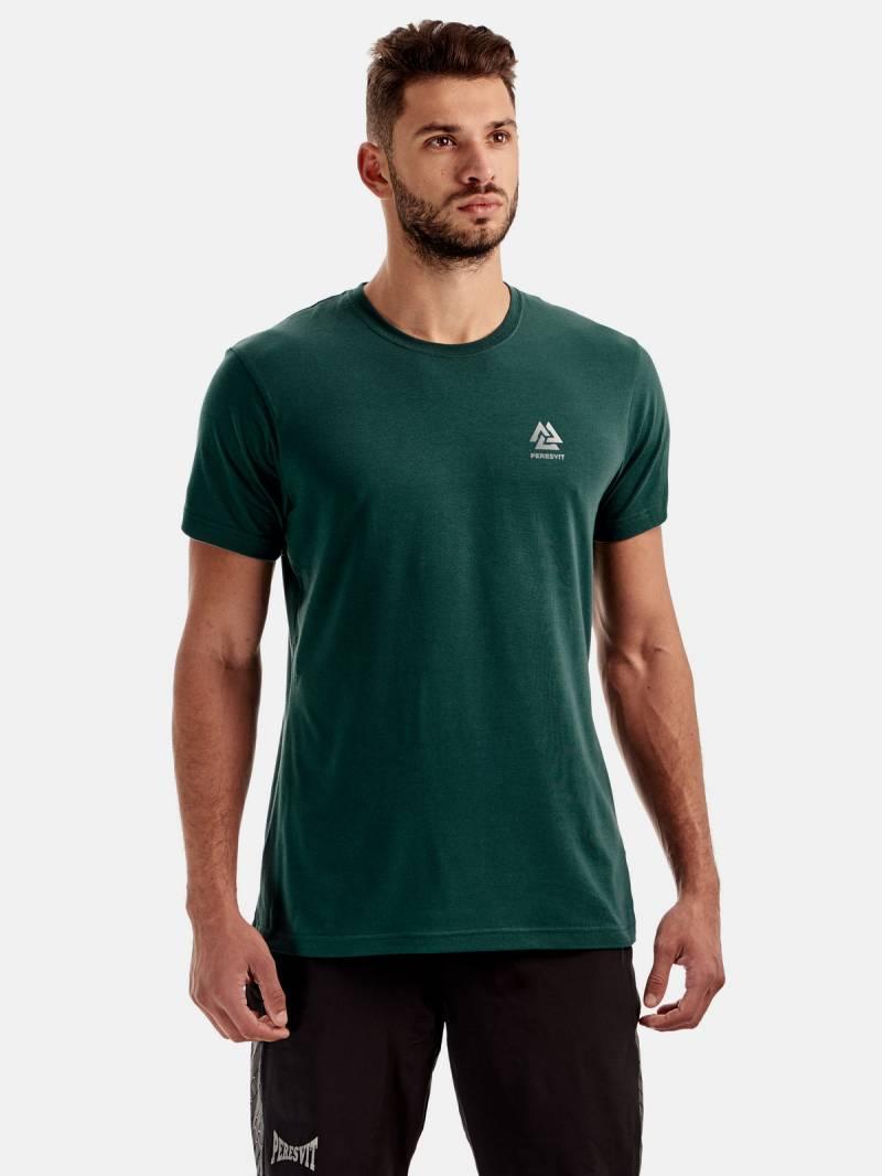 Спортивна футболка з коротким рукавом Peresvit Dynamic Cotton Short Sleeve T-shirt Atlantic Deep