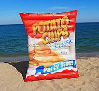 """Матрас надувной Intex """"Чипсы"""" (Potato Chips) арт.58776. Отлично подходит для отдыха на море, в бассейне"""