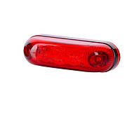 Габарит диодный овал красный + кабель 0,5 м 12/24v