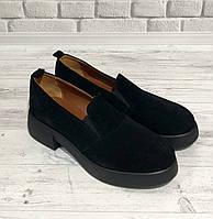 Туфли женские замшевые на широком каблуке Lacs, фото 1