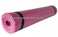 Коврик для йоги и фитнеса M0380-3 - 6 цветов Розовый