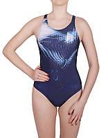Купальник спортивный подростковый для плавания Rivage line 1535, синий