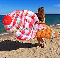Матрас надувной Intex Мороженое (Ice Cream) арт.58762. Отлично подходит для отдыха на море, в бассейне