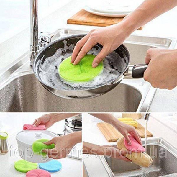 Набор силиконовых губок для мытья посуды  из 3шт