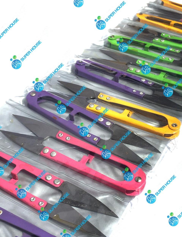 Щипцы, ножницы для обрезки ниток 110мм 100% металл 12 шт. Разноцветные