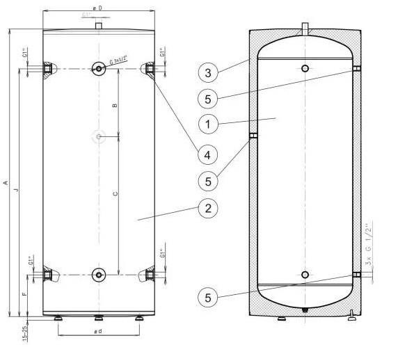 Теплоакумулятор Drazice NAD 250 v1