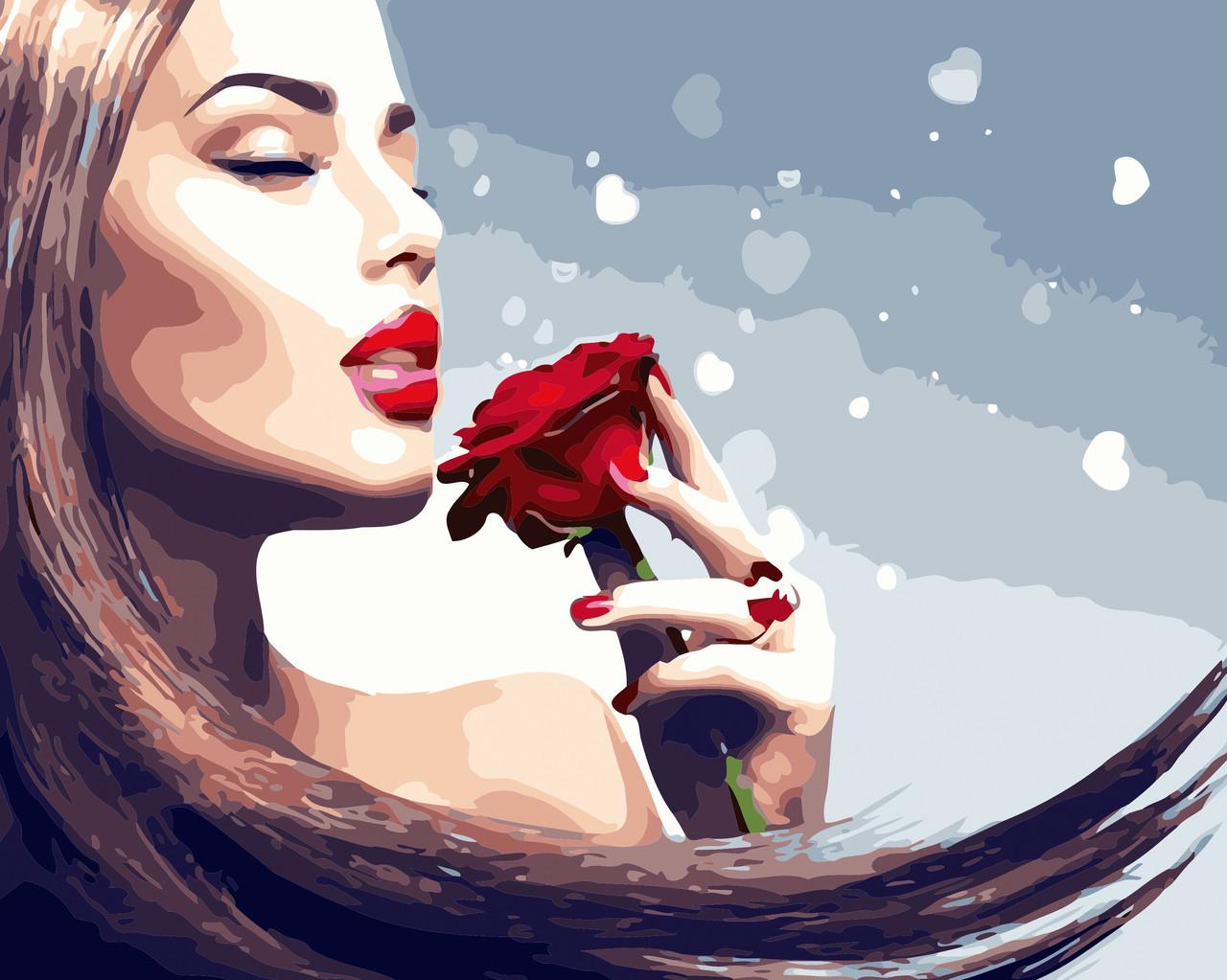 Художественный творческий набор, картина по номерам Аромат розы, 50x40 см, «Art Story» (AS0449)