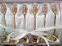 Набор винтажных королевских чайных ложечек из 6шт