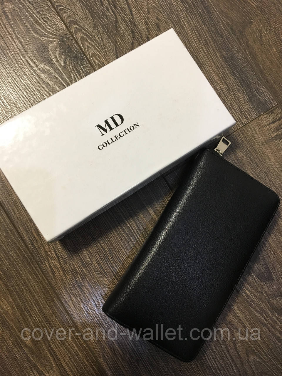 08a544667446 Клатч - кошелёк мужской MD COLLECTION черный - cover and wallet (обложка и  кошелек)