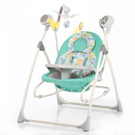 Детская электрическая качель-колыбель, шезлонг CARRELLO Nanny 3 в 1 CRL-0005 с пультом, Grey Dino
