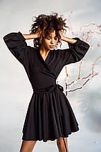 Жіноче плаття шовк стиль джерсі легке вільний на поясі до колін яскраві кольори розмір:42-46