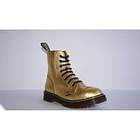 Средние женские ботинки Steel Limited Edition золотистые 8 дырок 113/AL/D-109, Размер 38