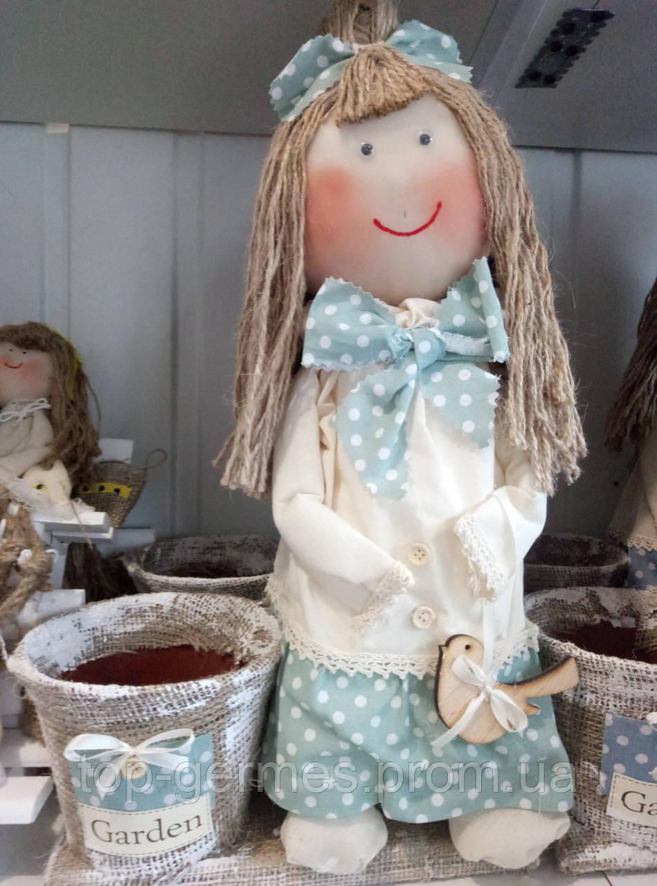 """Дизайнерский сувенир ручной работы """"лялька с вазоном"""""""