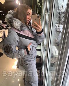 Женский лыжный комбинезон с капюшоном в расцветках. ОЛ-8-0119