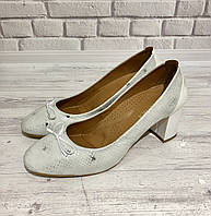 Туфли женские белые с напылением Marcella, фото 1