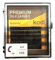 Ресницы Butterfly зеленые С 0.15 (12 мм)