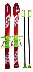 Набор лыжный детский RE:FLEX 90 см (лыжи с палками) красный арт.256104 5