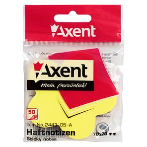 Блок бумаги Axent 2443-05-A с липким слоем, 70x70 мм, 50 листов, цветок, фото 2