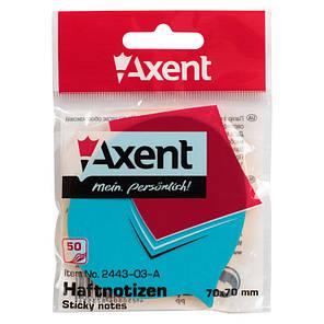Блок бумаги Axent 2443-03-A с липким слоем, 70x70 мм, 50 листов, фраза, фото 2