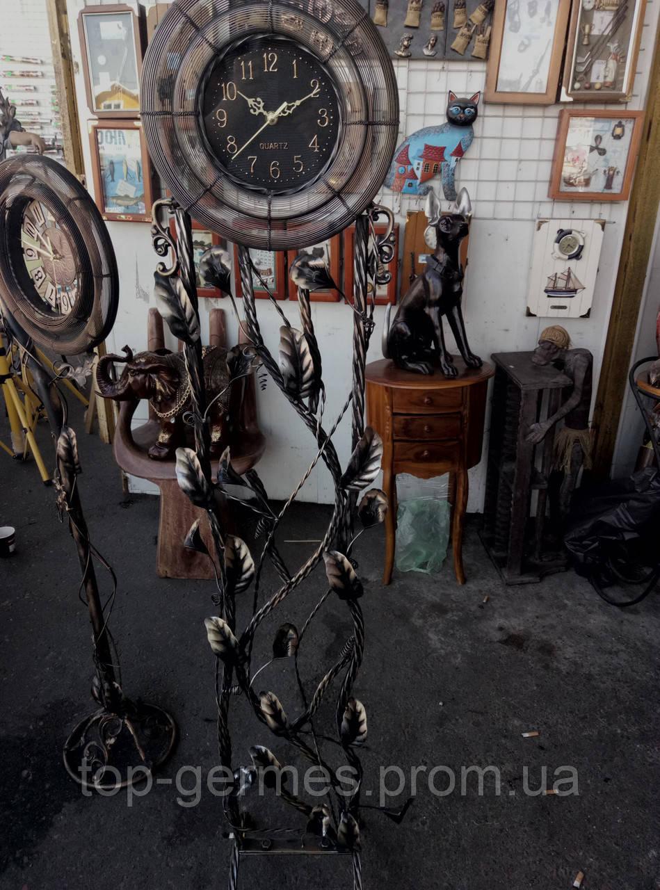 Шикарные напольные часы ковка