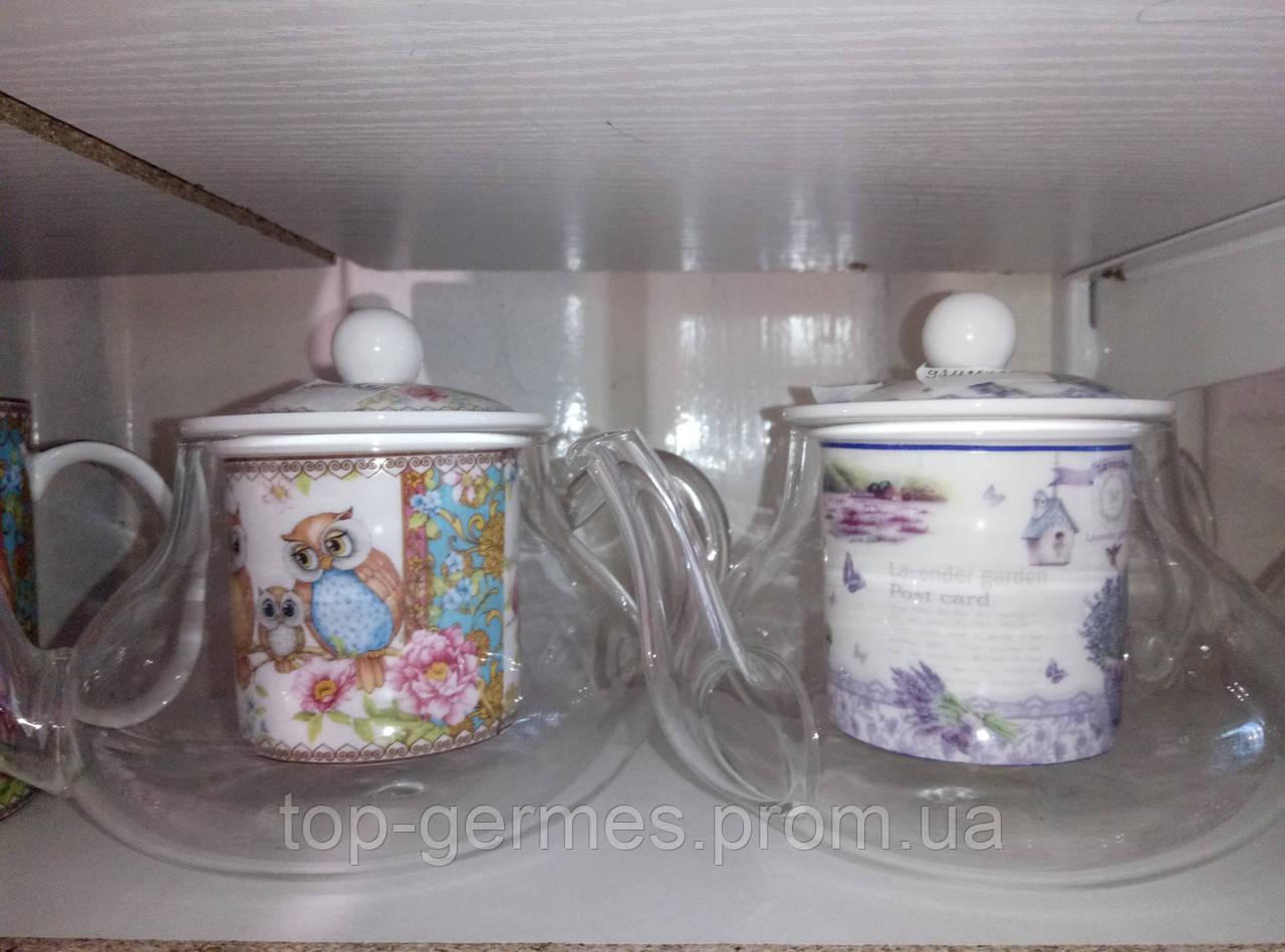 Заварочные стеклянные чайники 350мл