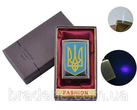 Зажигалка подарочная в коробочке UA-17 Украина с фонариком для денег, фото 2