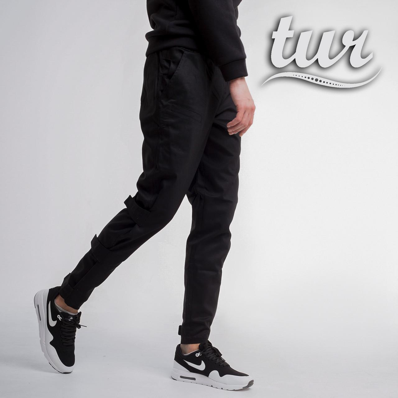 Карго штаны мужские черные от бренда ТУР модель Веном (Venom). Размер S, M, L, XL, XXL