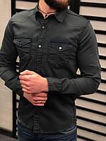 Мужская рубашка темно-серая G75RC