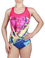 Купальник спортивный женский для плавания  Rivage Line  8728, малиново-синий
