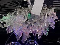 Новогодние гирлянды в виде елки 5м