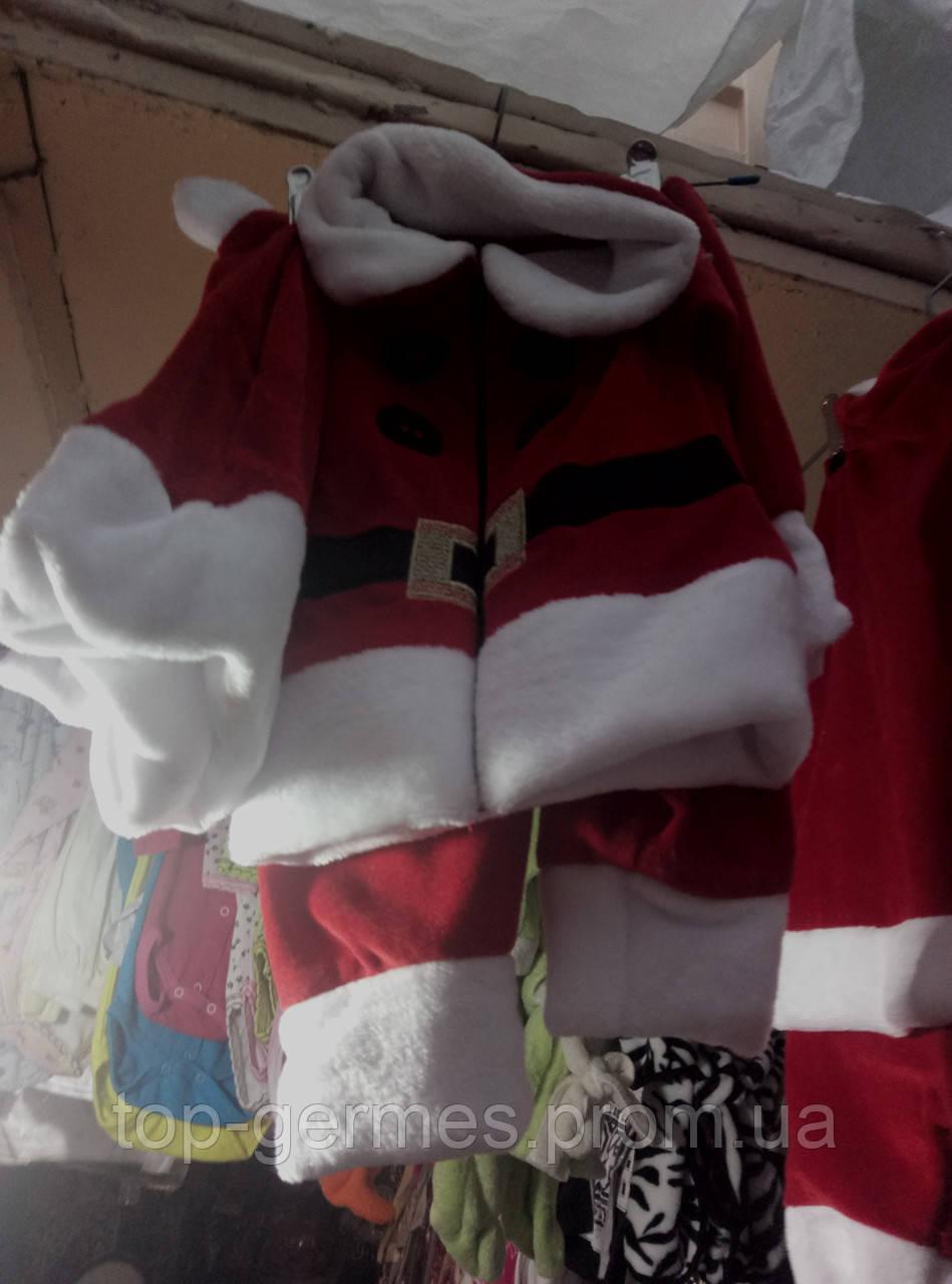 Шикарный новогодний костюм санты на мальчика 3/1-рост 86,92,98