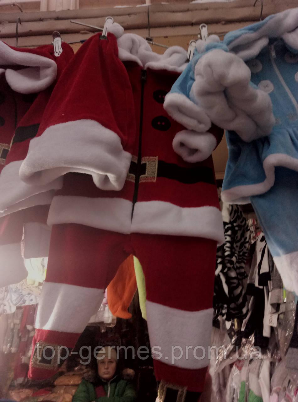 Новогодний костюм санты на мальчика-3/1 рост 62,68,74