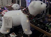 Новогодний белый светящиеся медведь