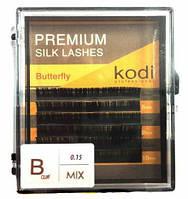 Ресницы Butterfly темно-коричневые B 0.01 (10,11,12 мм)
