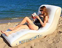 Матрас-шезлонг одноместный надувной Intex (Lounge) арт. 56861. Отлично подходит для отдыха на море, в бассейне