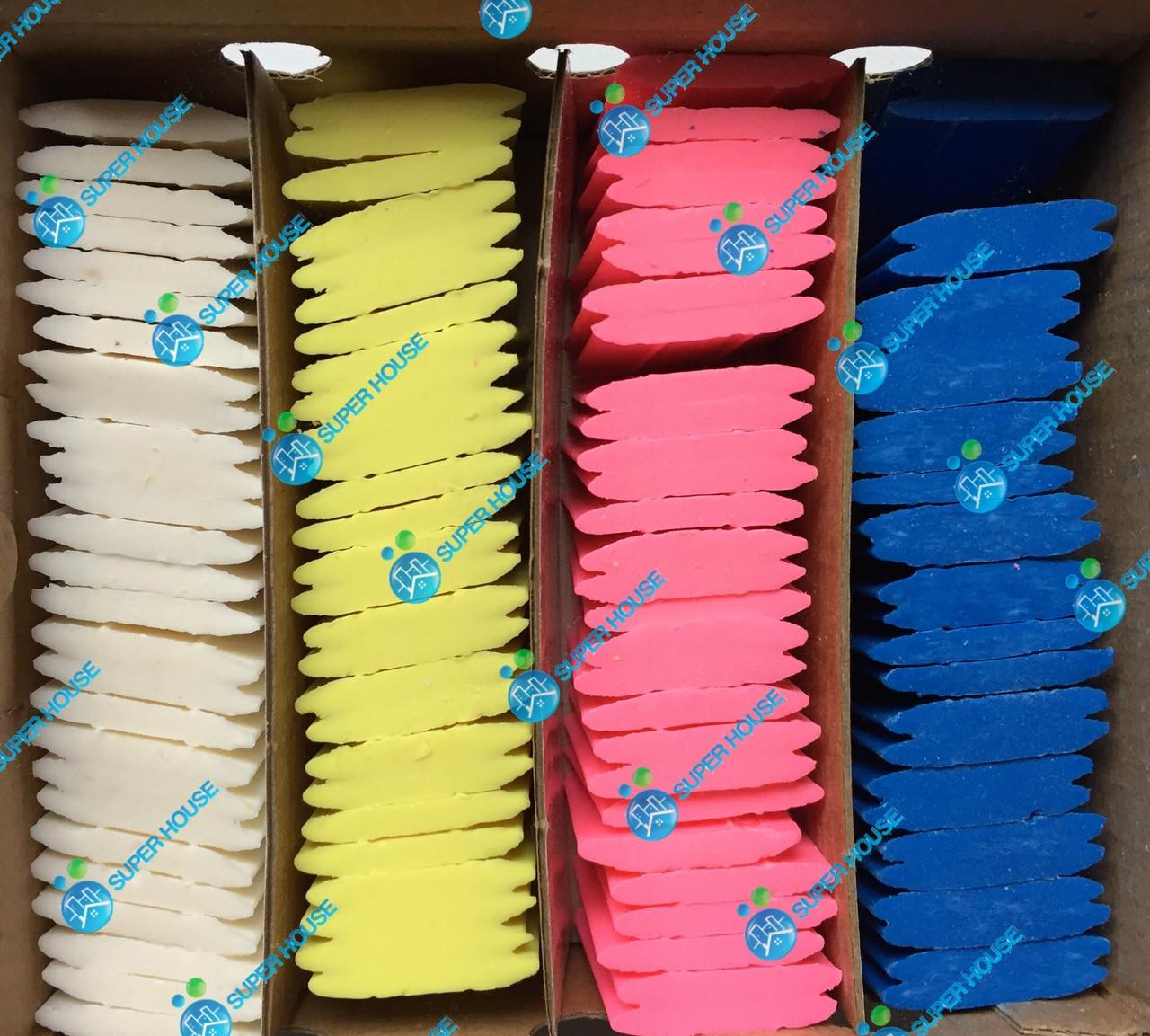 Мел невидимка для разметки, мыло портновское STRONG. 100 шт. в упаковке (4 цвета)