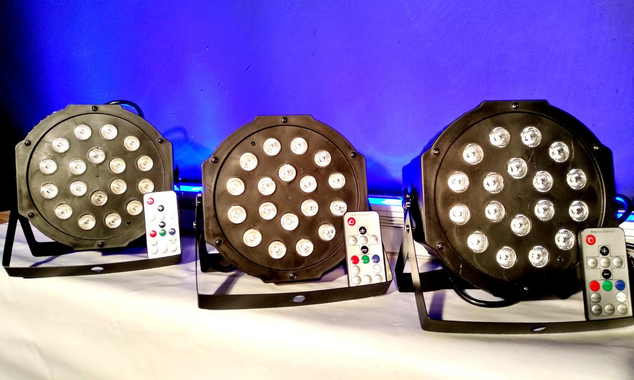 Заливочный прожектор светодиодн 18x1WRGB 3in1 DMX. Dzyga