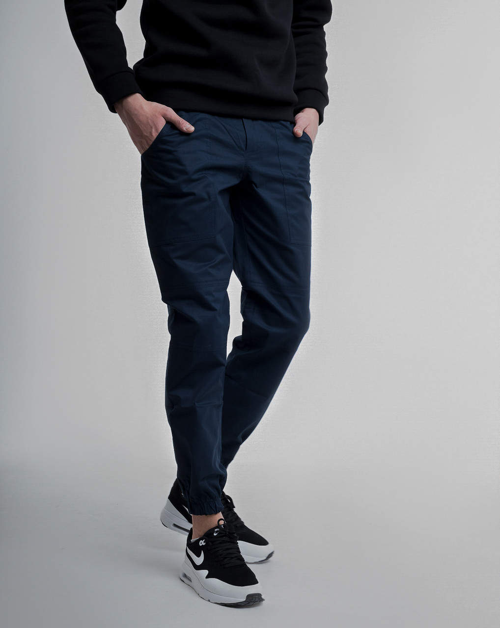 Зауженные штаны джоггеры мужские синие от бренда ТУР модель Локи (Loki) размер S, M, L, XL