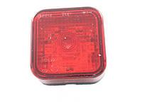 Габаритный фонарь квадратный (65х65мм) красный