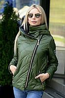 e15feb0a3c06 Женская куртка демисезонная утепленная с капюшоном 42 44 46 размеры 7 км