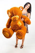 М'яка іграшка ведмедик з латками 150 см, коричневий