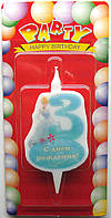 """Свечи для торта """"Принцессы Дисней""""-«3»"""